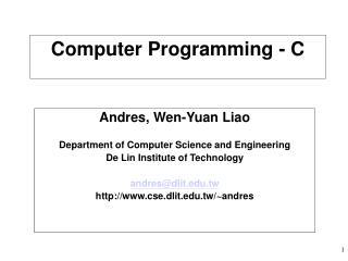 Computer Programming - C