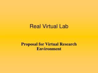 Real Virtual Lab