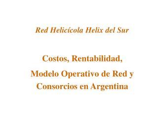 Red Helic cola Helix del Sur  Costos, Rentabilidad, Modelo Operativo de Red y Consorcios en Argentina