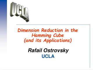 Dimension Reduction in the Hamming Cube  and its Applications