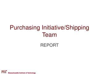 Purchasing Initiative