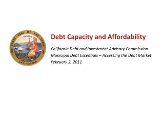 Debt Capacity and Affordability