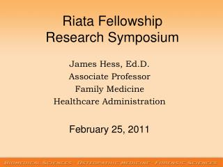 Riata Fellowship Research Symposium