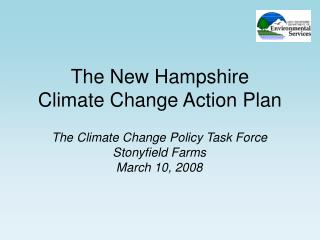 The New Hampshire Climate Change Action Plan