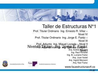 Taller de Estructuras N 1