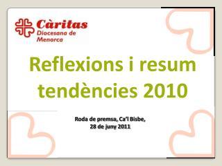 Reflexions i resum tend ncies 2010