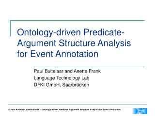 Ontology-driven Predicate-Argument Structure Analysis for Event Annotation