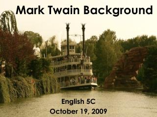 Mark Twain Background