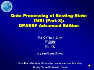 Data Processing of Resting-State fMRI Part 3: DPARSF Advanced Edition