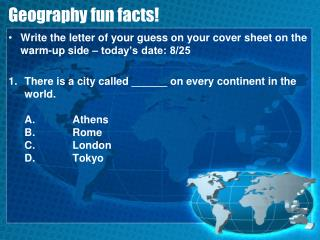 Geography fun facts