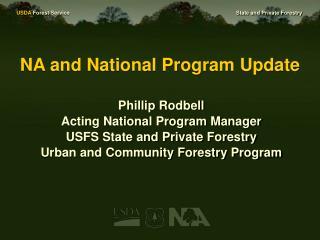NA and National Program Update