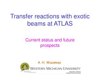 Transfer reactions with exotic beams at ATLAS