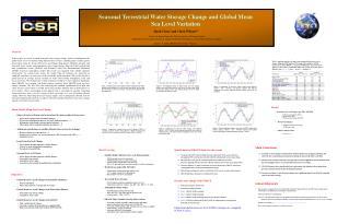 Seasonal Terrestrial Water Storage Change and Global Mean  Sea Level Variation