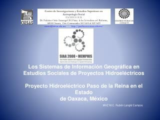 Los Sistemas de Informaci n Geogr fica en Estudios Sociales de Proyectos Hidroel ctricos   Proyecto Hidroel ctrico Paso