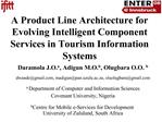 A Product Line Architecture for Evolving Intelligent Component Services in Tourism Information Systems