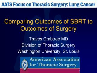 Comparing Outcomes of SBRT to Outcomes of Surgery