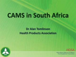 CAMS in South Africa