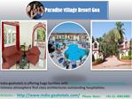 Explore the Paradise village resort Goa Booking