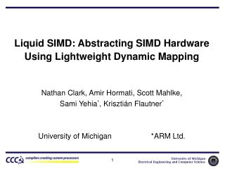 Liquid SIMD: Abstracting SIMD Hardware Using Lightweight Dynamic Mapping