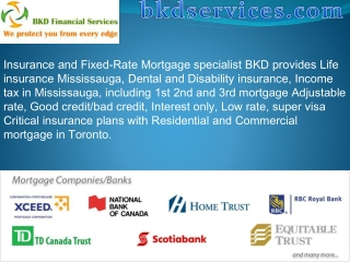 Mortgage life insurance Mississauga