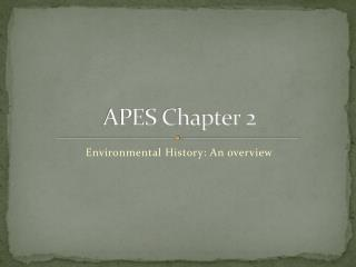 APES Chapter 2