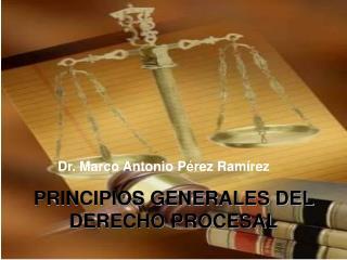 PRINCIPIOS GENERALES DEL DERECHO PROCESAL