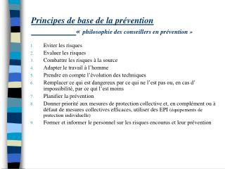 Principes de base de la pr vention     philosophie des conseillers en pr vention