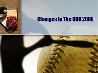 Changes In The OBR 2008