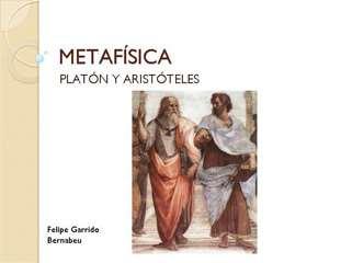 Metaf??sica Plat??n y Arist??teles