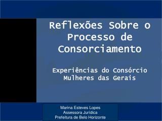 Reflex es Sobre o Processo de Consorciamento  Experi ncias do Cons rcio Mulheres das Gerais