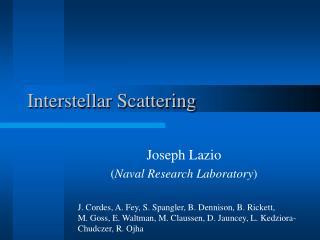 Interstellar Scattering