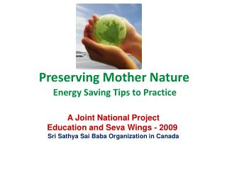 Preserving Mother Nature
