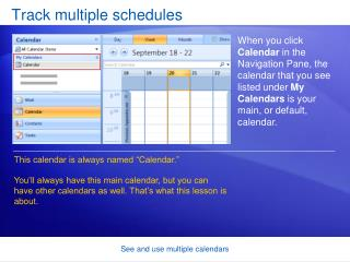 Track multiple schedules