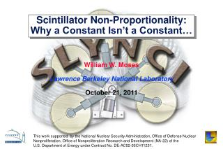 Scintillator Non-Proportionality: Why a Constant Isn t a Constant