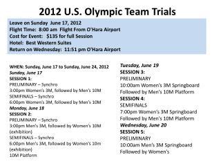 2012 U.S. Olympic Team Trials
