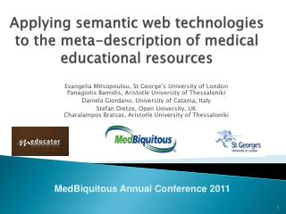Applying semantic web technologies to the meta-description of medical educational resources