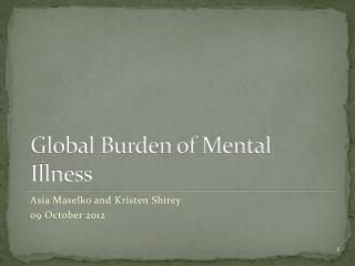 Global Burden of Mental Illness