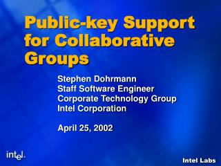 Public-key Support for Collaborative Groups