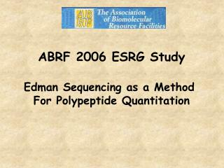ABRF 2006 ESRG Study