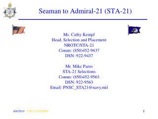 Seaman to Admiral-21 STA-21
