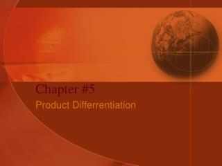 Product Differrentiation