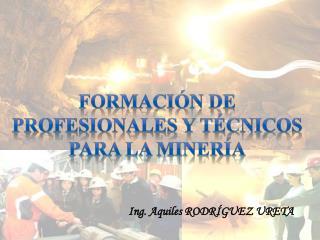 Formaci n De Profesionales y t cnicos Para la miner a