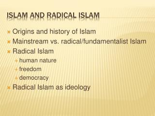 Islam and radical islam