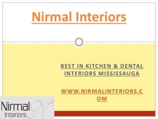 Kitchen Interiors decorating & dental interior Mississauga