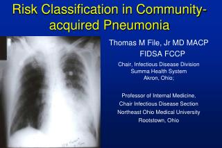 Risk Classification in Community-acquired Pneumonia