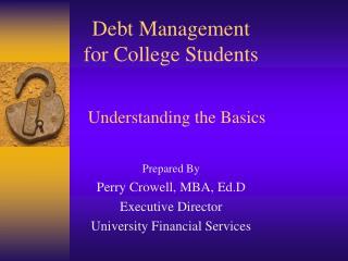 Debt Management for College Students