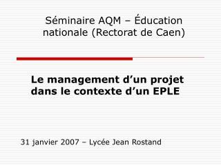 31 janvier 2007   Lyc e Jean Rostand