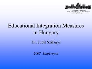 Educational Integration Measures in Hungary