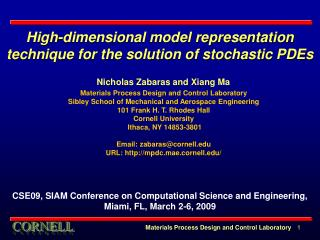 High-dimensional model representation technique for the solution of stochastic PDEs