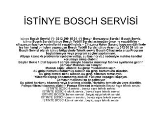 Bosch Servis istinye ≽( 212 299 15 34 )⋞ Bosch Servisi Pek ç